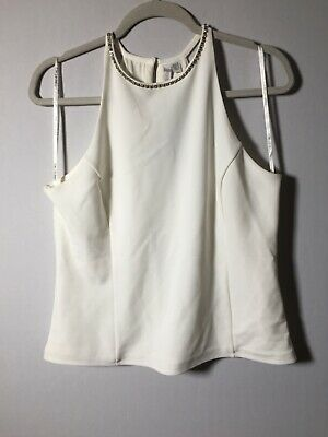 AU26 • Buy Forever New NEW WITH TAGS Womens White Cami Tank Top Singlet Size 16