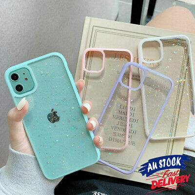 AU7.99 • Buy Clear Soft Case Cover For IPhone 11 12 Pro Max XR X Shockproof Glitter Slim CAS#