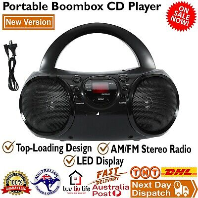AU54 • Buy Portable Boombox CD Player AM/FM Radio Stereo Music LED Display Aux-in Audio