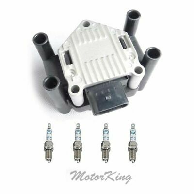 $63.92 • Buy IGNITION COIL & 4 Spark Plug FOR 99-01 VW GOLF BEETLE JETTA 2.0 L4 B264 Ic496 *