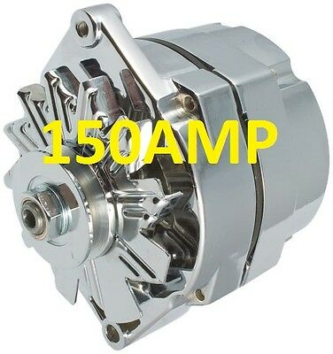 $ CDN137.85 • Buy 150amp High Amp Chrome Alternator Self Exciting 1 Wire System For Chevy Gm Buick