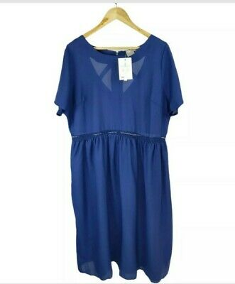 AU29.95 • Buy Asos Navy Blue Loose Fit Flare Dress Plus Size UK 22 Party Evening Casual