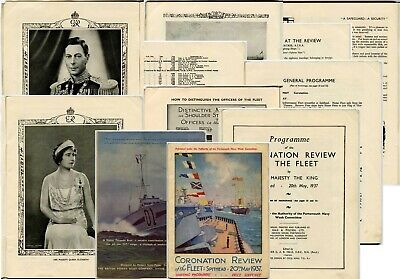 £45 • Buy 1937 CORONATION NAVY FLEET REVIEW 64 PAGE OFFICIAL PROGRAMME KING GEORGE 6th