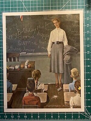 """$ CDN124.82 • Buy Set Of 12 Laminated Norman Rockwell 12 X 15"""" Teaching Prints (Used In Classroom)"""