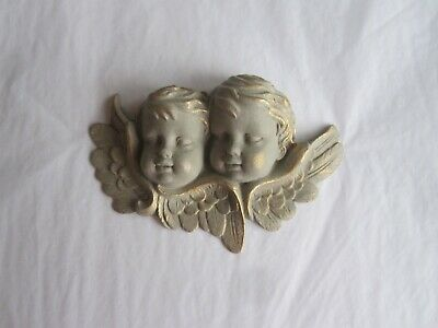 £9 • Buy  Pretty  Chic French Country  Cherubs Heads Furniture /mirror/wall Plaque/mould