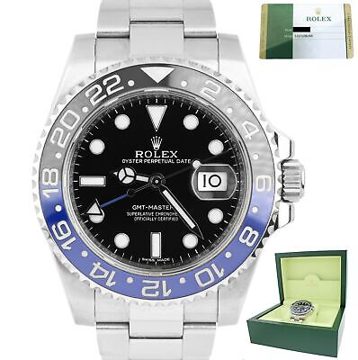 $ CDN19558.99 • Buy 2015 Rolex GMT Master II Batman Stainless Blue Black Ceramic 116710 BLNR Watch