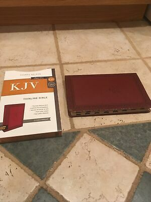 AU20.65 • Buy Kjv Thinline Bible Crimson Thumb Indexed Red Letter