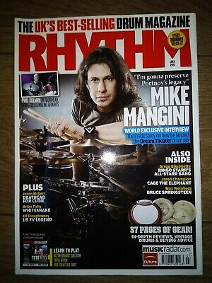 £0.99 • Buy Rhythm Magazine July 2011 Issue How Mike Mangini Landed The Dream Theater Gig