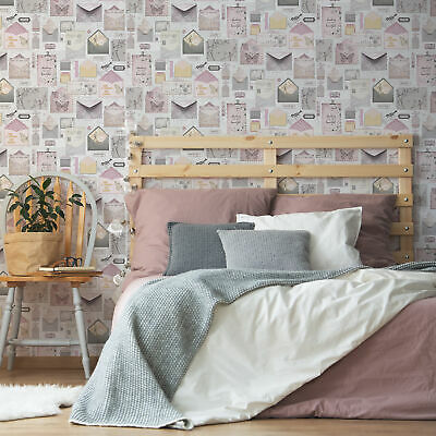 Fresco Pastel Love Letter Typography And Animal Wallpaper (Was £11) • 6.99£