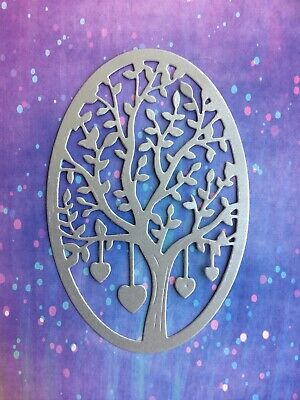 £2.40 • Buy 3 Silver Heart Love Family Tree Birthday Wedding Mother Father's Day Card Topper