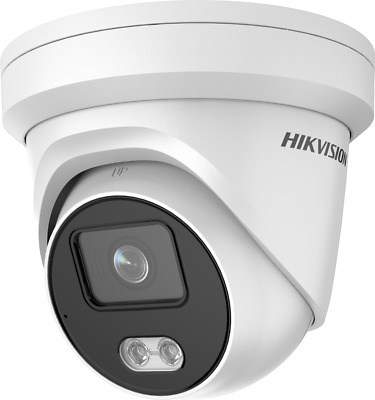 Hikvision COLOURVU And AUDIO 4MP Camera 4K NVR IP POE Dome DS-2CD2347G1-LU 2.8MM • 154.14£