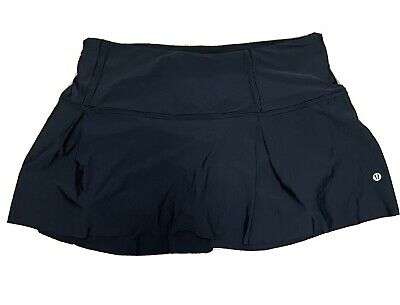 $ CDN68.50 • Buy Lululemon Lost In Pace Skirt Skort Size 10 Black Currant EUC Run Tennis Golf