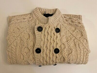 $497 • Buy Burberry Prorsum - Mens Double Breasted Cable Knit Sweater - Natural White - NWT