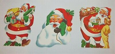 $ CDN18.97 • Buy Vintage Litho Santa Claus Christmas Decorations Paper Die Cut Out - USA 12