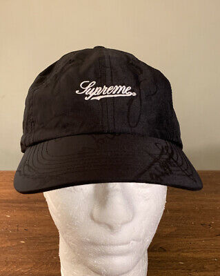 $ CDN113.65 • Buy Supreme Script Logo 6-panel Black Hat Os/ Fw20 Week 16 (in Hand) Authentic