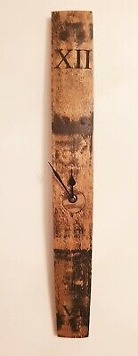 £30 • Buy Clock - Oak Whisky Whiskey Barrel Stave Wall Clock With Original Bung