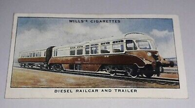 £1.10 • Buy ** Will's Cigarettes - Railway Equipment - No. 29 Diesel Railcar And Trailer **