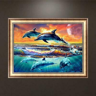 AU6.69 • Buy Dolphin DIY 5D Diamond Embroidery Painting Cross Stitch Craft Home Decor Art