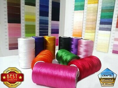 £3.99 • Buy VICO 10 Strong Silk Rayon Machine Embroidery Strong Spools JANOME Best Price