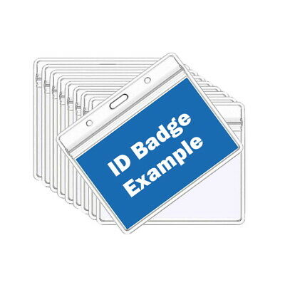 £1.20 • Buy Clear Plastic ID Badge Card Holders | Badge/Pass Holder | Name Wallet Pouches