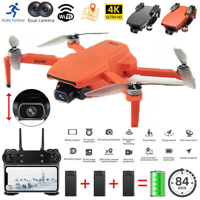 AU140.97 • Buy SG108 4K HD RC Drones GPS With 1080P Camera Wifi FPV Quadcopter Brushless Drone