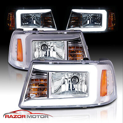 $184.68 • Buy [LED Bar] 2001-2011 Ford Ranger Pickup Truck LED Running Light Chrome Headlights