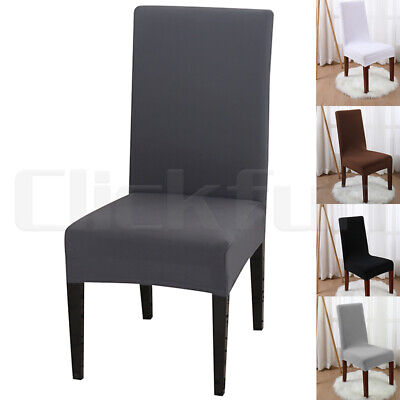 AU4.59 • Buy Stretch Chair Cover Seat Covers Spandex Lycra Washable Banquet Wedding Party 1PC