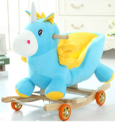 £24.99 • Buy Baby Kids Rocking Horse Rocker Toy With Music, Wheels And Seat Belt