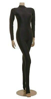 Tappers and Pointers T/&P Turtle Neck Long Sleeve All In One Catsuit Keyhole Back Stirrup Foot Black Size 1 Age 6-8 years