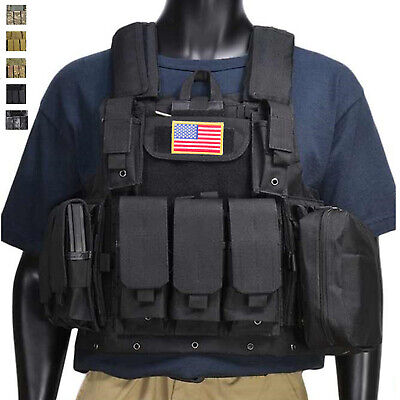 $43.69 • Buy Military Tactical Vest Loaded Gear Army Molle Plate Carrier With Magazine Pouch
