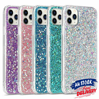 AU9.99 • Buy Glitter Case For IPhone 12 11 Pro Max 6 7 8 X XS XR Bling Shockproof Cover CAS#
