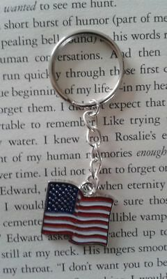Handcrafted Keyring Usa Flag United States Of America  • 1£
