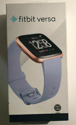 $ CDN172.23 • Buy NEW Fitbit Versa Fitness Activity Tracker Periwinkle/Rose Gold - Damaged Box E1