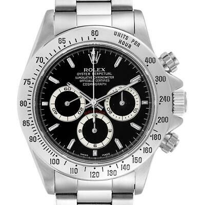 $ CDN37053.50 • Buy Rolex Daytona Black Dial Chronograph Steel Watch 116520 Box Papers