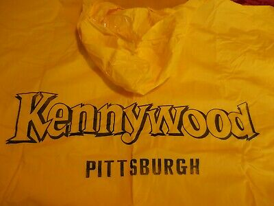 $27.77 • Buy Kennywood Park Pittsburgh Yellow Poncho 45 X75  With Case Made In Taiwan