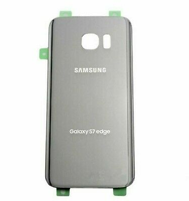 $ CDN8.78 • Buy Silver Battery Back Glass Cover With Adhesive For Samsung Galaxy S7 Edge G935
