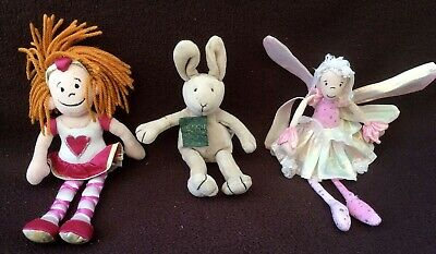 3 X Jellycat Small Retired Toys Happy 18th Birthday Rabbit, Red Hair Girl, Fairy • 9.99£