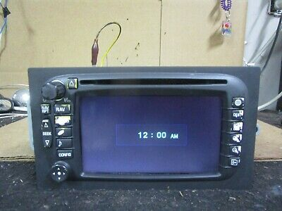 $100 • Buy 03 04 Chevy Tahoe Cadillac Radio CD Player Navigation Display Screen 15204335