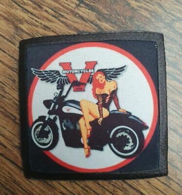 VICTORY MOTORCYCLES ! 8 BALL CRUISER 50s PIN UP GIRL BIKER CHOP Sew On Patch • 5.99£