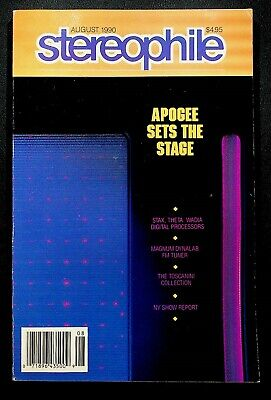 $13.49 • Buy VINTAGE Stereophile Magazine August 1990 Apogee Stax Theta Wadia Magnum Dynalab