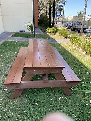 AU825 • Buy Timber Outdoor Setting Picnic Table Brand New 2.4 Metres