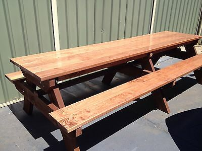 AU1100 • Buy Timber Outdoor Setting Picnic Table Brand New 3.0 Metres Kids Table Free
