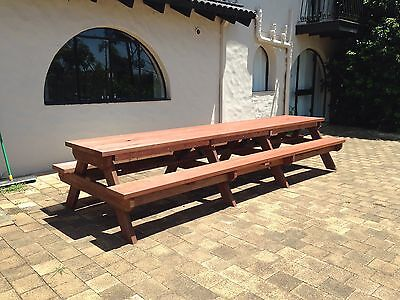 AU1485 • Buy Timber Outdoor Setting Picnic Table Brand New 4.0 Metre With Free Kids Table