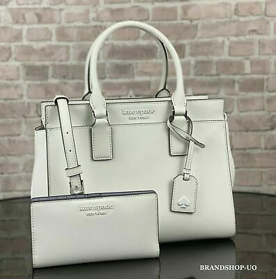 $ CDN165.85 • Buy KATE SPADE CAMERON LEATHER SATCHEL CROSSBODY SHOULDER BAG PURSE WALLET SET White