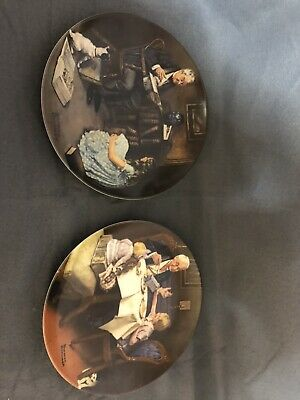 $ CDN37.96 • Buy Lot Of 2 Norman Rockwell Collector Plates