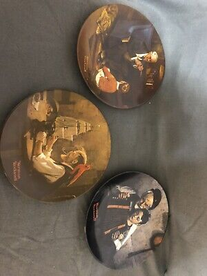 $ CDN31.63 • Buy Lot Of 3 Norman Rockwell Collector Plates