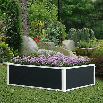 Outsunny Garden Raised Bed Planter Grow Containers Flower Pot PP 100 X 80cm • 52.99£