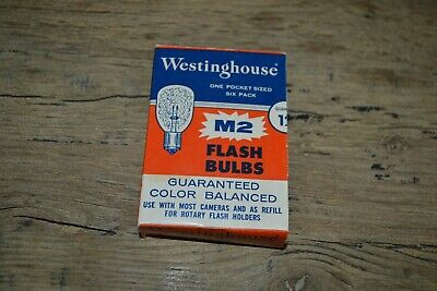 Vintage Westinghouse Flash Bulbs - Camera Flash - M2 - New Old Stock • 7.12£