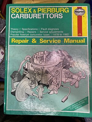 Haynes Solex & Pierburg Carburettors Repair And Service Manual • 35£
