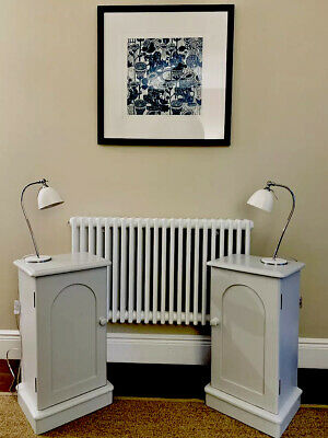 £320 • Buy Pair Of Antique, Painted Pine Bedside Tables / Bedside Cabinets / Pot Stands